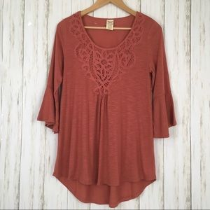 Faded Glory Bell Sleeve Blouse